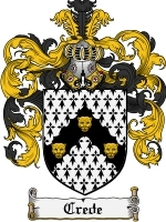 Primary image for Crede Family Crest / Coat of Arms JPG or PDF Image Download