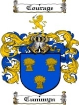 Cummyn Family Crest / Coat of Arms JPG or PDF Image Download - $6.99
