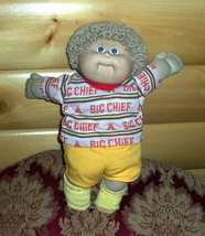 Cabbage Patch Kids Coleco Beige Curls #8 Happy Big Chief Sweet Boy Orphan - $6.99