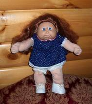 Cabbage Patch Kids Coleco '86 Auburn CS Tongue CPK Tiny Flower Top Orphan - $7.95