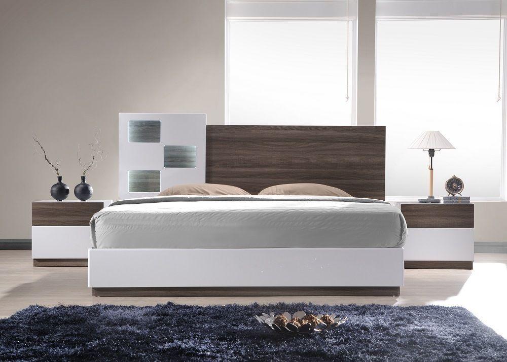 J&M Modern SanRemo A Queen Size Bed Contemporary Modern Platform Spain