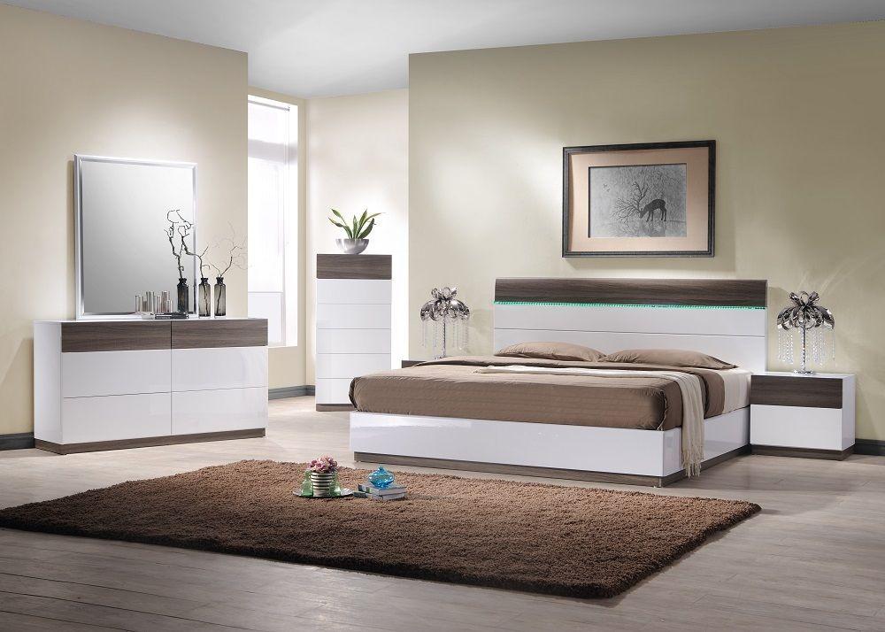 J&M Modern SanRemo B King Size Bed Contemporary Modern Platform