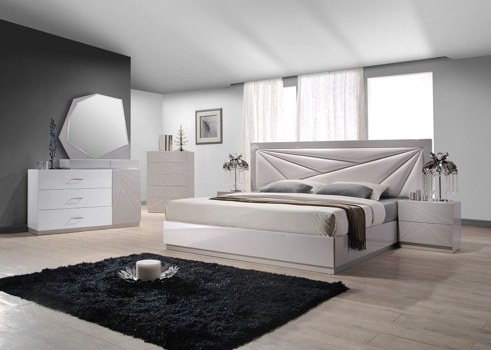 J&M Modern Florence King Size Bed Contemporary Modern Platform Spain