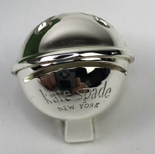 Kate Spade Lenox Donner Road Set of 4 Holiday Place Card Holders Silverplate  image 2