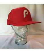 Rare Philadelphia Phillies Snapback Mesh Trucker Hat Red M L Medium Large - $33.85