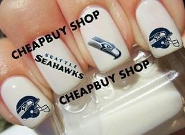 Seattle Seahawks Nfl Football Logos》Tattoo Nail Art Decals《Non Toxic - $16.99