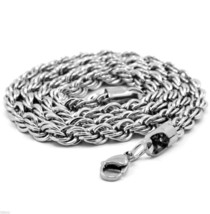 "Men & Lady Stainless Steel 5mm French Rope Link Chain Necklace 30"" Inches - $10.88"