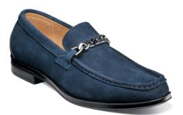 Stacy Adams Norwood Moc Toe Bit Slip On Shoes Navy  Suede  25333-415 - €82,08 EUR