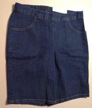 Women's Classic 2 PKT Stretch Shorts Dark Indigo Size M (8-10) Average - $9.79