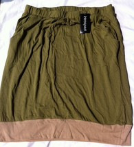 Womens Maternity Introspect Knit Pocket Front Block Skirt Hunter Green/T... - $12.02