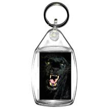 black panther handmade in uk from uk made parts keyring, keyfob
