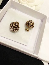 Authentic Christian Dior 2019 CRYSTAL STAR BEADS Double Pearl Tribales Earrings image 5