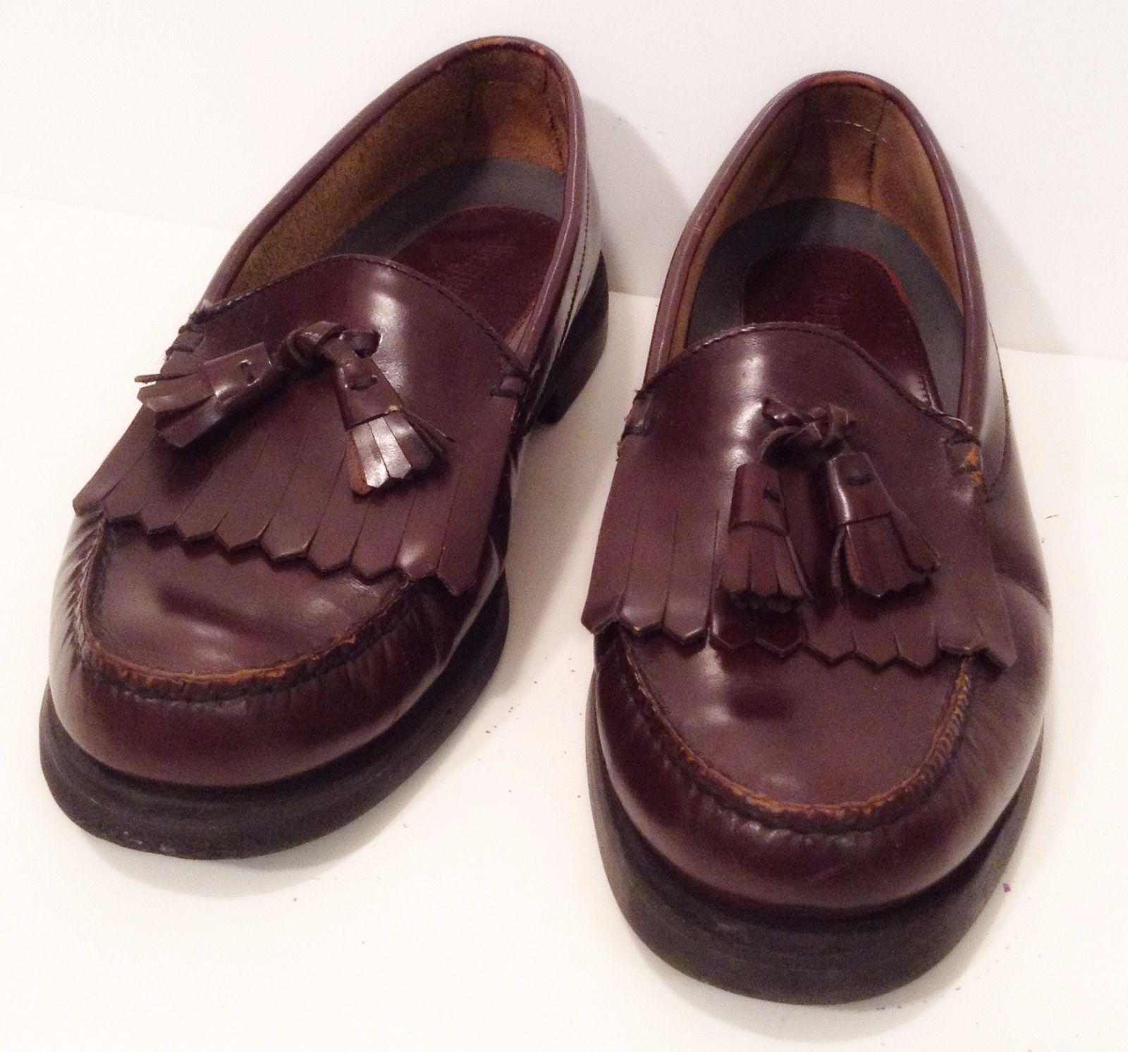 9a0058137c8 Bass Weejuns Heritage Collection G H Bass Kiltie Tassle Loafers 8.5 M VG