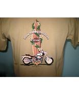 Harley-Davidson Tan T-Shirt Large Maui, Hawaii - $20.00