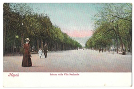 Italy Napoli Interno della Villa Nazionale Promenade Vintage E Ragozino ... - $4.99