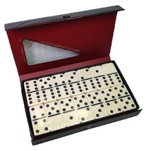 Ivory Double Six Dominoes Set, Game,Play,Fun,Tile, Ivory, Gift,Hobbie,Ro... - $19.49