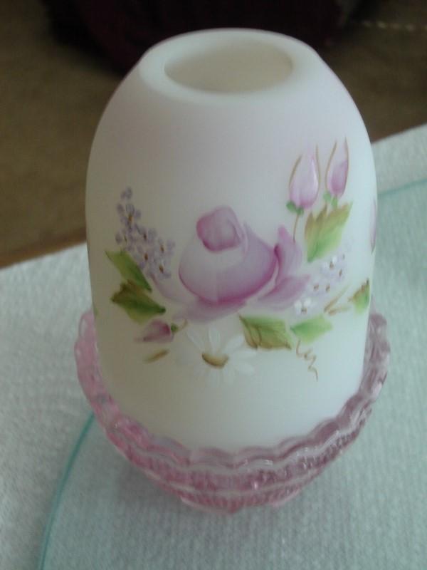 Fenton Lilacs and Roses Fairy Light NIB