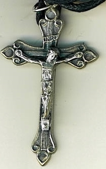 Corded Necklace with Crucifix - Cruz Santa in Spanish - LH55.0497