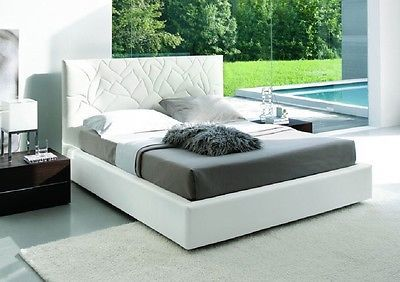 J&M Lily Queen Size Platform Bed Contemporary Modern Style LooK