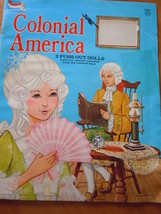 Colonial America 2 Push Out Dolls Paper Dolls 1974 - $6.99