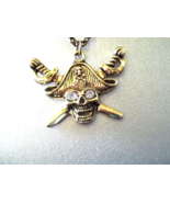 Pirate skull head necklace - $20.00