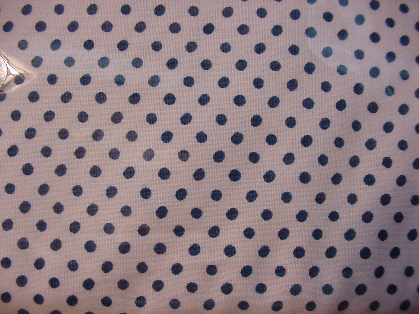 Ralph Lauren Small Dark Blue Dots on White Sheet Set Full