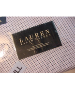 Ralph Lauren Small Dark Blue Dots on White Sheet Set Full - $75.00