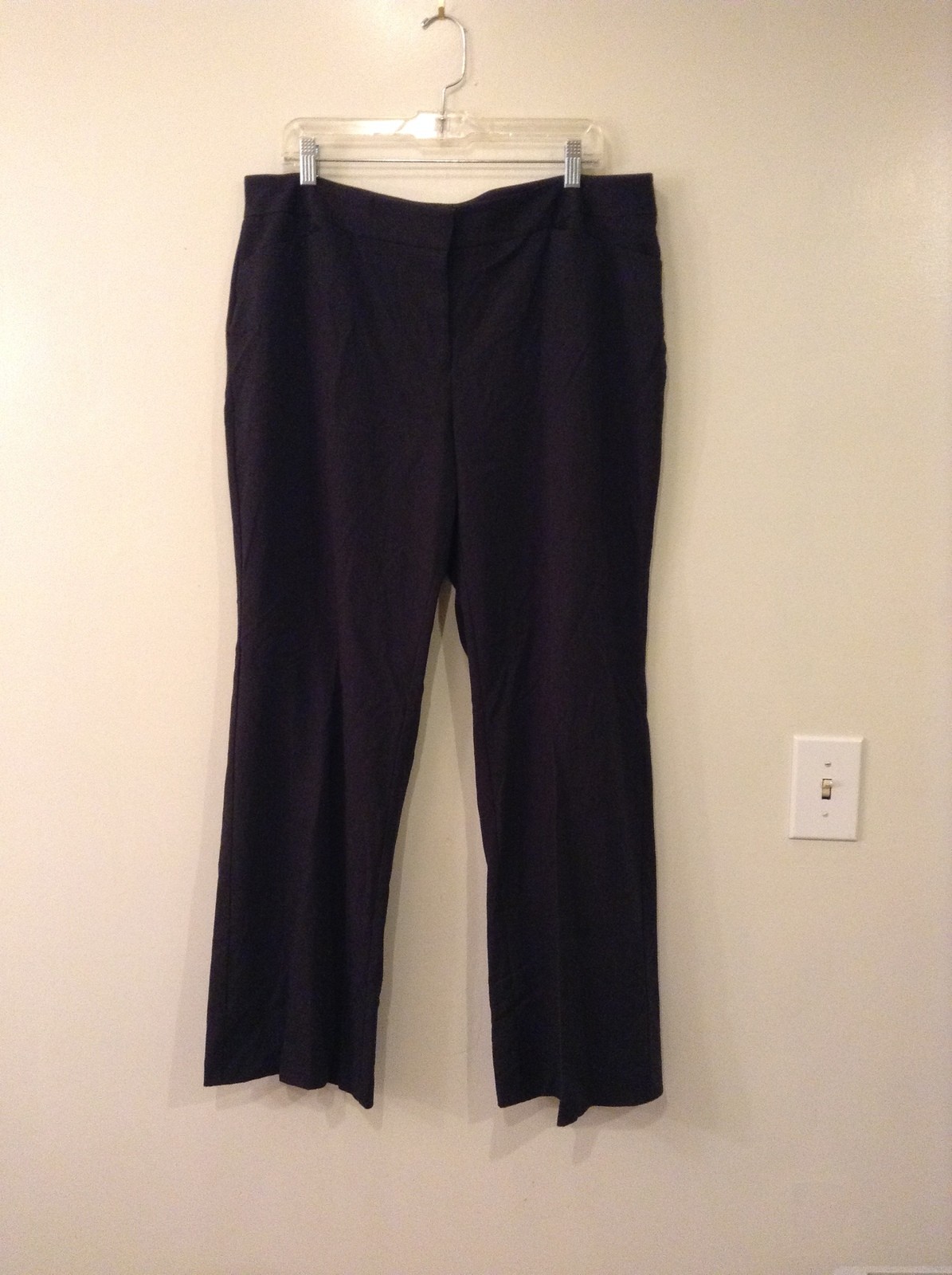 Alfani Woman Dark Gray Stretchy Dress Pants, size 16W, unlined