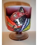 Fenton Glass OOAK Plum Opalescent Halloween Pir... - $222.13