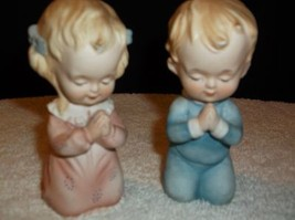 Lefton Praying Boy and Girl porcelain figurines - $14.84
