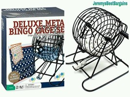 Automatic Deluxe Wire Cage Bingo Game Set Marker Ball Selector B.I.N.G.O... - $35.53