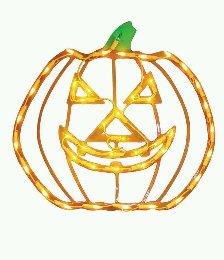 Halloween Lighted Window Decoration Jack Yard Lit Pumpkin Jack O Lantern Light