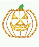 Halloween Lighted Window Decoration Jack Yard Lit Pumpkin Jack O Lanter... - £18.22 GBP