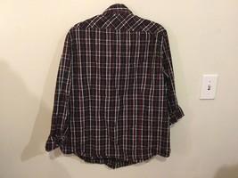 Adam Levine Black Red White Plaid 100% Cotton Button Down Shirt, size L image 4