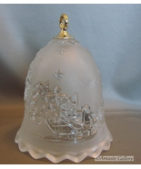 Mikasa Crystal Bell Silent Night Made in Germany Frosted Glass - $11.99