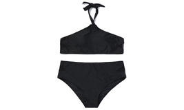 Women's Halter Plus Size High Waist Two Pieces Bikini Set - $21.99