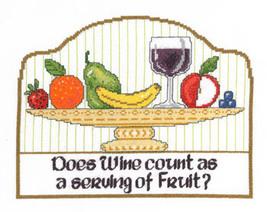 Serving of Fruit cross stitch chart Imaginating - $5.40