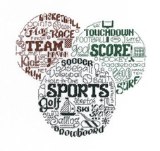 Let's Play Sports cross stitch chart Imaginating - $5.40