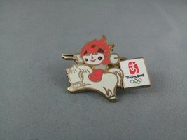 2008 Sumer Olympic Games Pin - Huan Huan on a Horse with Sword and Gun - $19.00