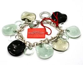 Bracelet Antica Murrina Venezia Shiva Murano Glass Discs Black BR316A12 image 1