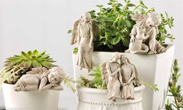 Set of 4 Angel Design Pot Huggers Polystone New