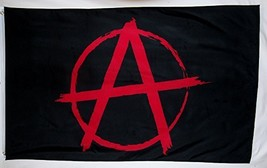Anarchy Symbol Flag 3' X 5' Indoor Outdoor Anarchism Banner - $9.95