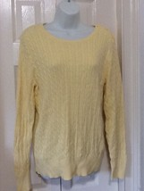 Womens yellow cable sweater by Sonoma -comes with a gift !! - $17.00
