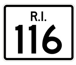 Rhode Island State Road 116 Sticker R4250 Highway Sign Road Sign Decal - $1.45+