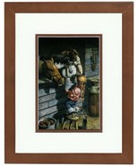 Working Girl  Little Cowgirl & Horse By Don Crook Double Matted In An 8x... - $59.39
