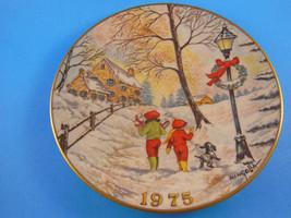 "Gorham Fine China Christmas Plate 8.5"" Dom Mingolla 1975 - $10.93"