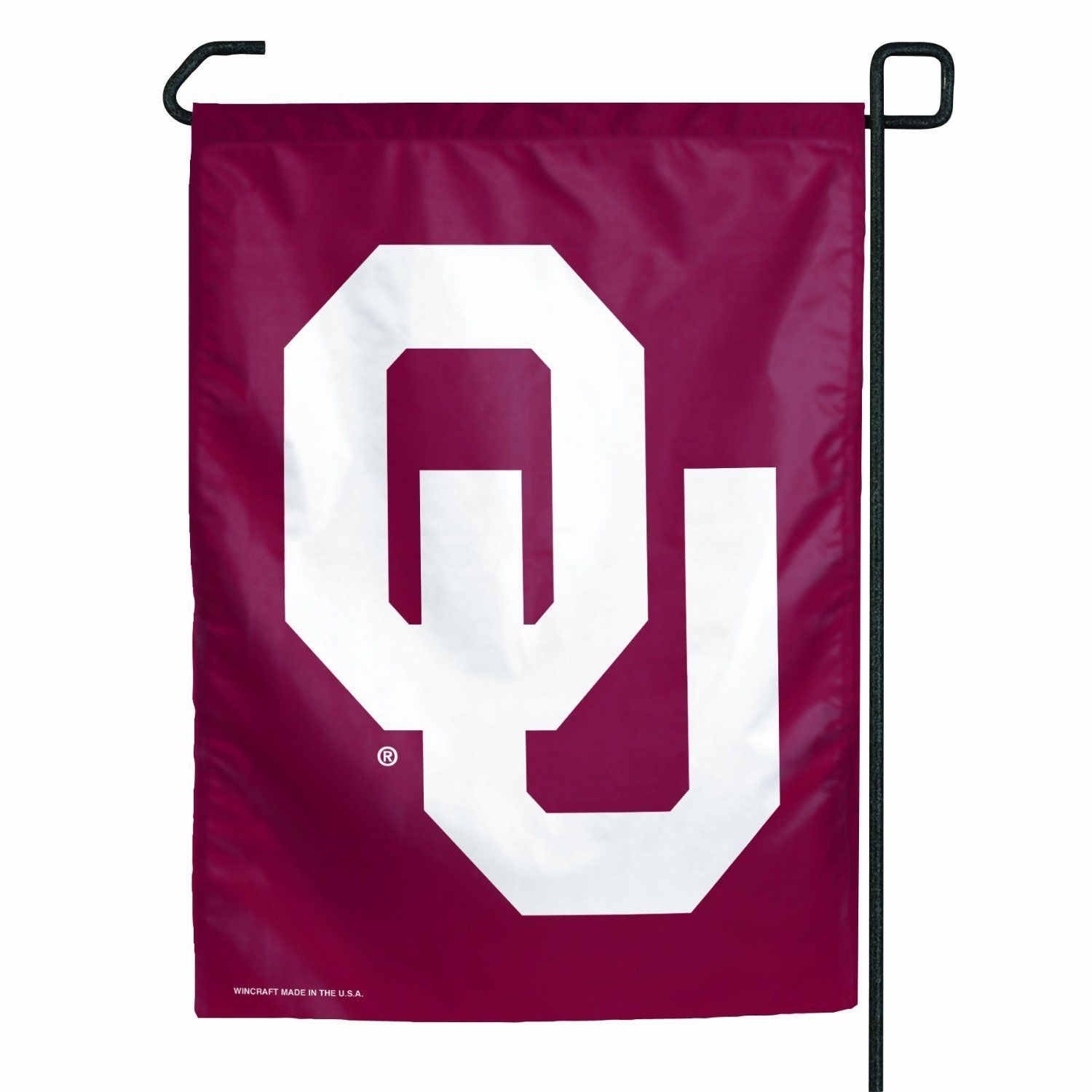 "OKLAHOMA SOONERS TEAM GARDEN YARD WALL FLAG BANNER 11"" X 15"" NCAA"