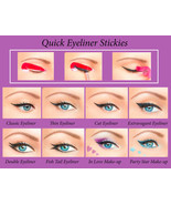 Quick Eyeliner Stickies Stencils Cosmetic Eye Makeup Tool NEW Free Shipp... - $19.00