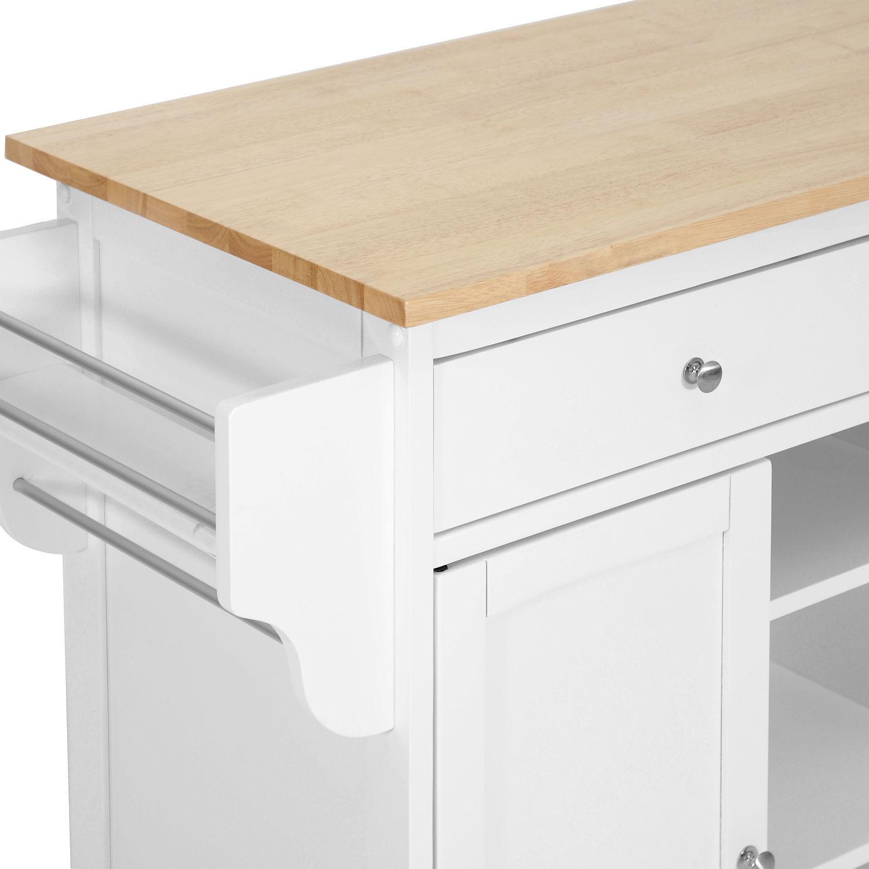 kitchen island cart meryland white modern storage cabinet