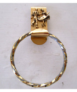 H10 GREAT GIFT - Gold twisted ring square dance towel holder with 3D cou... - $7.91